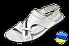 Мужские сандалии кожанные prime 05бел белые   летние