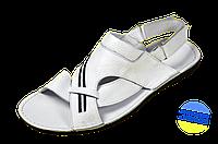 Мужские сандалии кожанные prime 05бел белые   летние , фото 1
