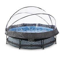 Бассейн круглый с куполом EXIT камень 300 х 76 см