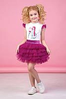 Нарядный костюм юбка пачка и кофточка для девочки