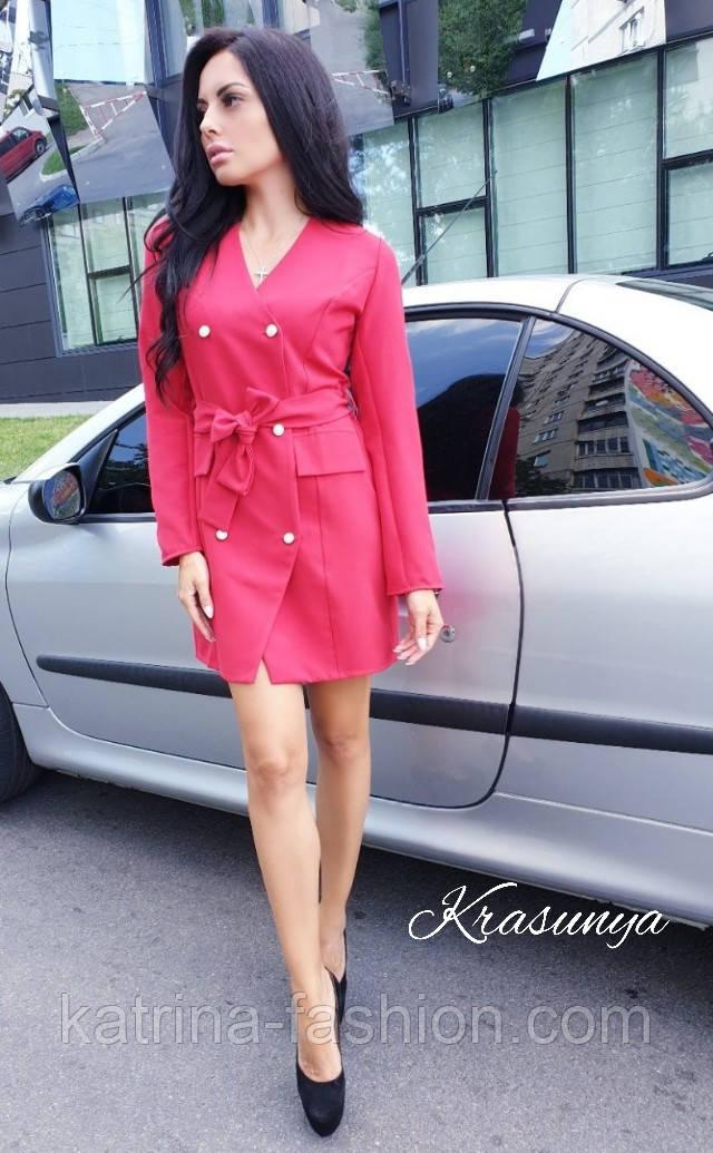Женское платье-пиджак с поясом (2 цвета)