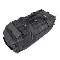 Сумка-рюкзак дорожная Natursport 80 литров размер 90х30х30 см водоотталкивающая ткань черная