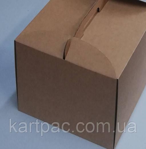 Одноразова коробка для торта 300х300х250 (БУРА Ц)