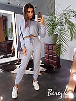 Комплект: укороченное худи с капюшоном + штаны-карго, фото 1