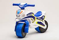 Велобіг Police, музичний біло/синій, фото 1