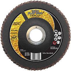 Круг шлифовальный лепестковый 125х22,23мм, CRP60, CERCUT, IncoFlex (10)