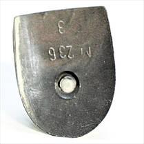 Каблук женский пластиковый 236 макос  р.2-3  h-9,3-9,6см., фото 3