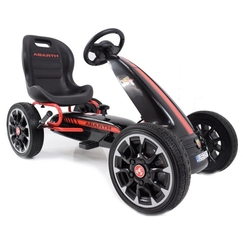Дитячий картинг Abarth PB9388A (чорний) / Детский спортивный картинг на педалях PB9388A (черный)