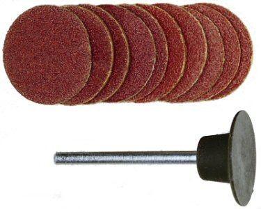 Шліфувальні круги з держателем PROXXON 18 мм, К120/К150, 10 шт. (28982)