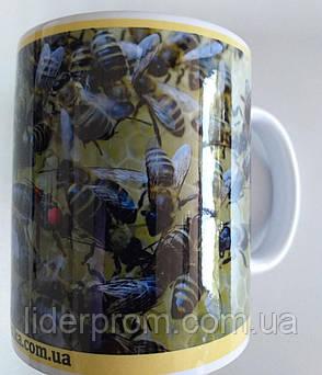 """Чашка подарункова для бджоляра, для любителів меду та пасіки """"Бджілки"""", фото 2"""