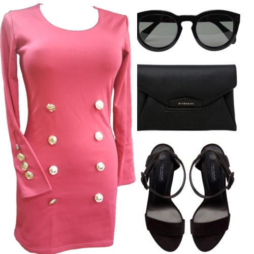 Распродажа!!! трикотажное платье малинового цвета длинный рукав код 2704