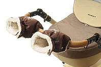 Рукавички-Муфта на коляску Ok Style Снежинка Коричневый, фото 1