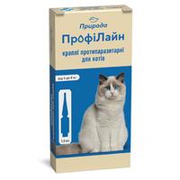 "Капли на холку ""Профілайн"" для кошек 4кг-8кг 1уп.(4 пипетки*1,0мл) (инсектоакарицид)"