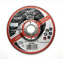 Круг зачистной по металлу 125х6,5x22,23 A24TBF-27, steel, PRO, IncoFlex (10)