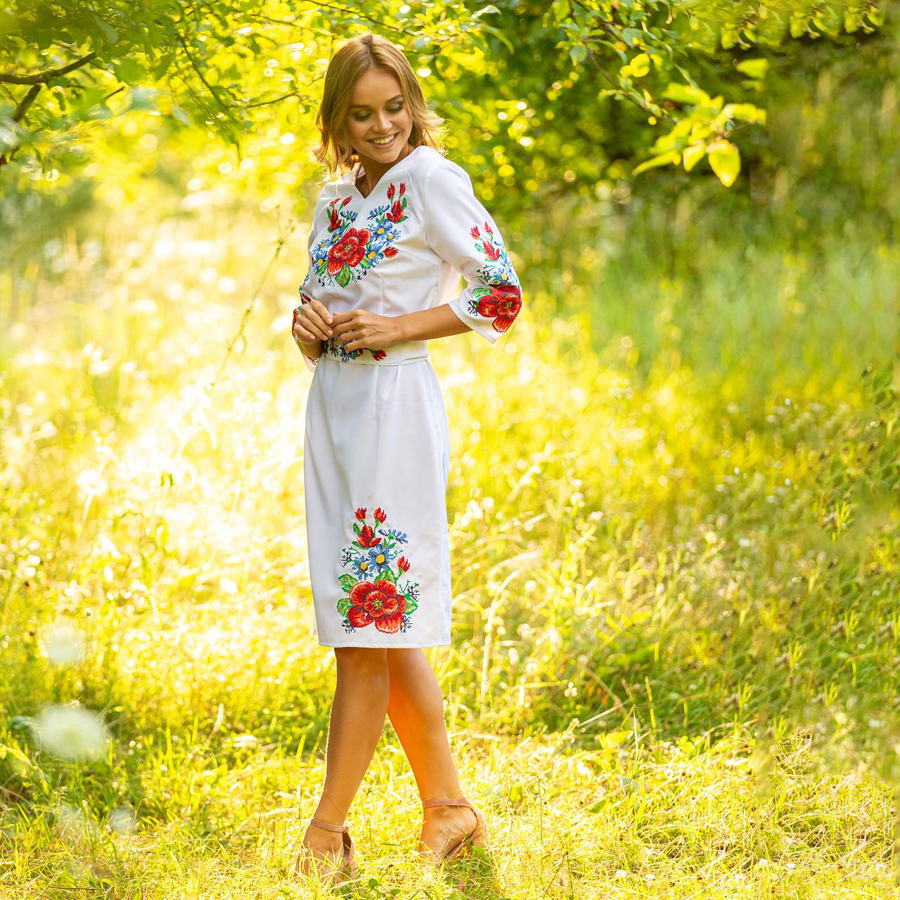 Сукні з вишивкою хрестиком - Мальва