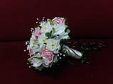 Свадебный букет-дублер из орхидей, роз и пионов в молочно-розовых тонах, фото 2