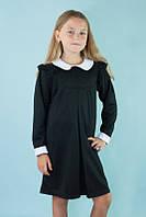 Платье детское французский трикотаж (цвета: серый, темно-синий,черный)