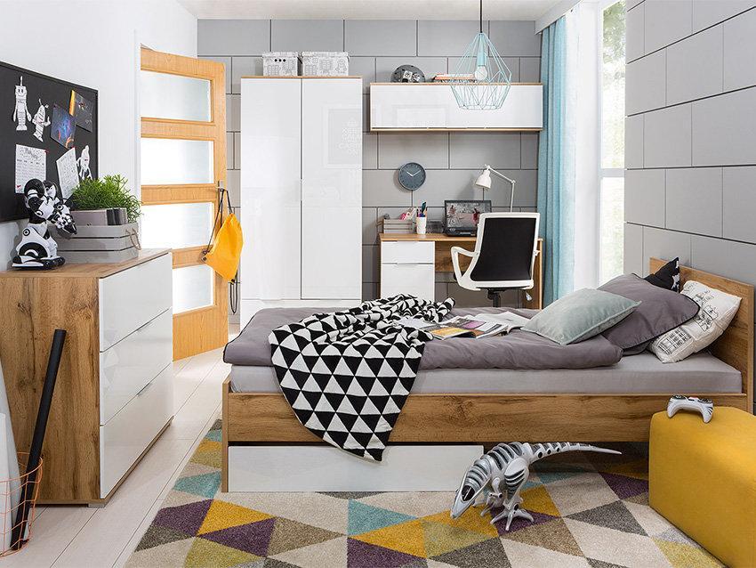 Спальня подростковая Злата Дуб тахо/Белый (БРВ-Украина ТМ)