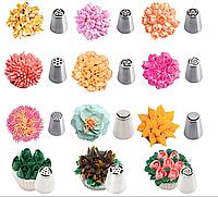 Набор Насадки кондитерские Малазийские цветы 12 шт.