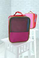Универсальная сумка органайзер красная с розовым