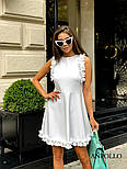 Женское легкое нежное платье с рюшами и вырезом на спине (в расцветках), фото 3