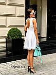 Женское легкое нежное платье с рюшами и вырезом на спине (в расцветках), фото 4