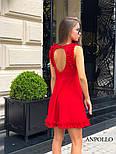 Женское легкое нежное платье с рюшами и вырезом на спине (в расцветках), фото 7