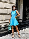 Женское легкое нежное платье с рюшами и вырезом на спине (в расцветках), фото 9