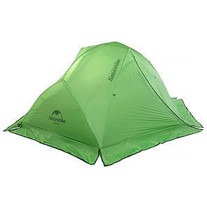 Палатка двухместная Naturehike Star River 2 Silicone 20D с юбкой зеленая.