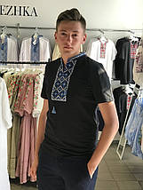 Трикотажная мужская футболка с вышивкой короткий рукав, фото 2
