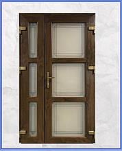 Металопластикові двері вхідні 1200 з вікном