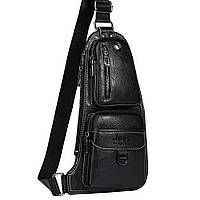 Мужская сумка Jeep 777 Bag Чёрная D1011