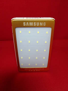 Smart Power Bank Samsung Gold на сонячній батареї (+ліхтар)