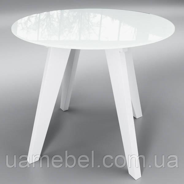 """Стіл скляний круглий """"Леонардо Коло"""" Беліссімо"""