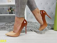 Туфли лодочки омбре бежевые