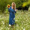 Платья из льна Красочные цветы, фото 8