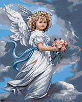 Холст по номерам без коробки Ангел хранитель Худ Сандра Кук (BK-GX3232) 40 х 50 см (Без коробки)