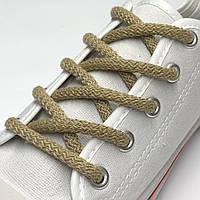 Шнурки простые круглые бежевые 120 см (Толщина 5 мм), фото 1
