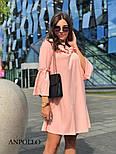Женское платье свободного кроя с рюшами (в расцветках), фото 4
