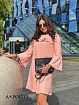Женское платье свободного кроя с рюшами (в расцветках), фото 6