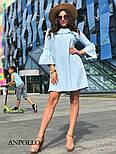 Женское платье свободного кроя с рюшами (в расцветках), фото 10