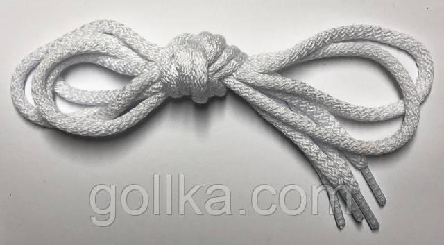 Шнурок круглый белый