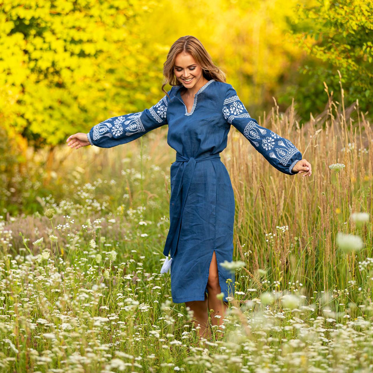 Платье с вышивкой купить - Мереживо