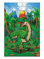 """Пазл детский с изображением динозавра """"Раптор""""  (104 или 120 элементов)"""
