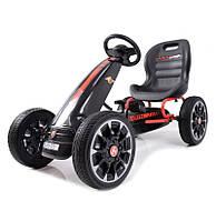 Дитячий картинг Abarth PB9388A (чорний) / Детский спортивный картинг на педалях PB9388A (черный), фото 1