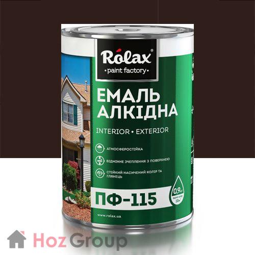 Эмаль алкидная ПФ-115 темный шоколад 2,8кг Ролакс