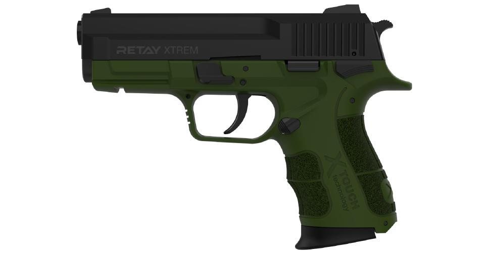 Пистолет стартовый Retay Xtreme. Цвет - olive   T570802G