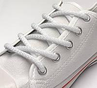 Шнурки простые круглые белые 150 см (Толщина 5 мм), фото 1