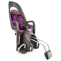 Детское велокресло HAMAX CARESS на раму серо пурпурный