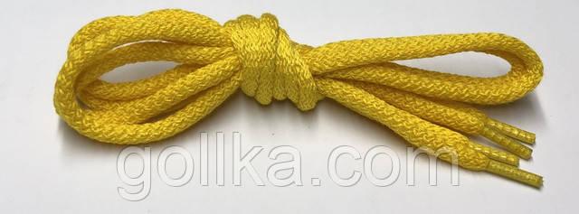 Шнурки круглые желтые